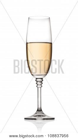 Glass of the white wine