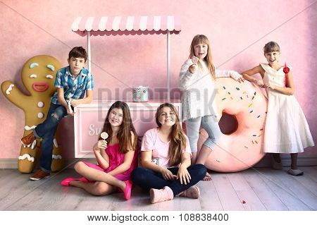 Kids In Confectionery Design Room