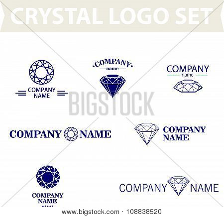 Diamond logo set.