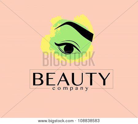 Vector flat beauty company logo design.