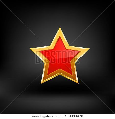 red star vector.