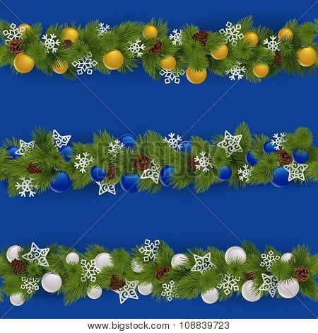 Vector Christmas Borders Set 2