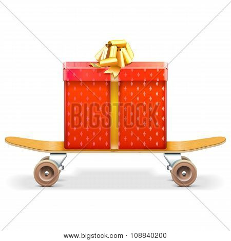 Vector Skateboard With Gift