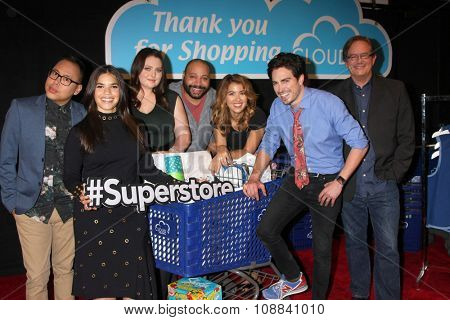 LOS ANGELES - NOV 17:  Superstore Cast at the Press Junket For NBC's