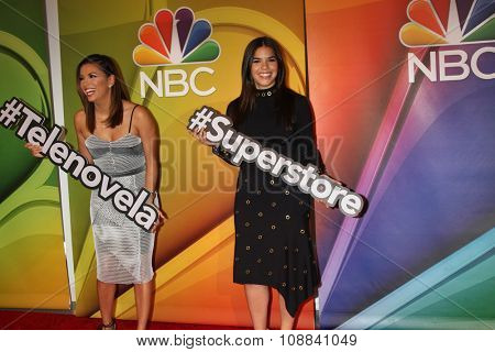 LOS ANGELES - NOV 17:  Eva Longoria, America Ferrera at the Press Junket For NBC's
