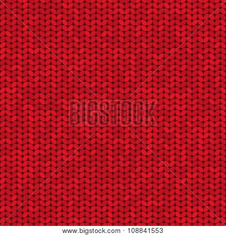 Vector Knitted Seamless Pattern