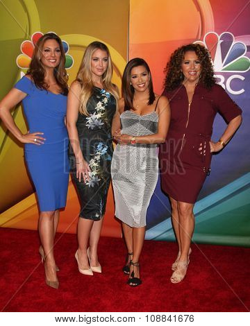 LOS ANGELES - NOV 17:  Alex Meneses, Jadyn Douglas, Eva Longoria, Diana Maria Riva at the Press Junket For NBC's