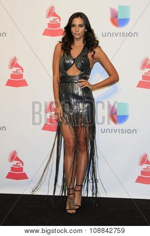 LAS VEGAS - NOV 19:  Genesis Rodriguez at the 16th Latin GRAMMY Awards at the MGM Grand Garden Arena on November 19, 2015 in Las Vegas, NV