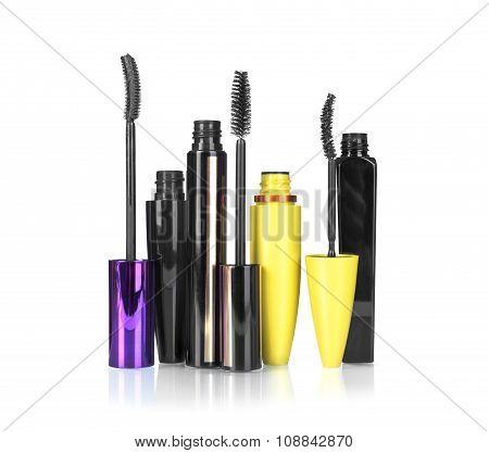 Mascara For Make-up Isolated On White Background