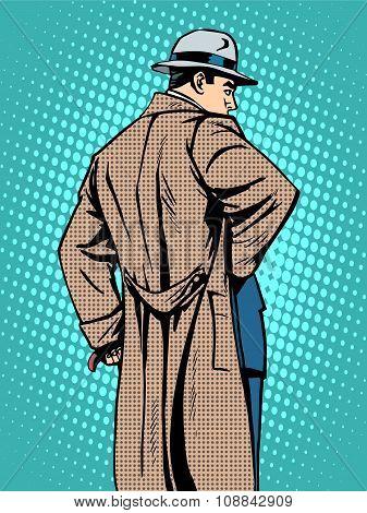 Man in coat autumn winter