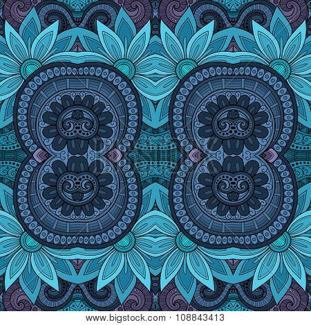 Vector Seamless Abstract Tribal Pattern