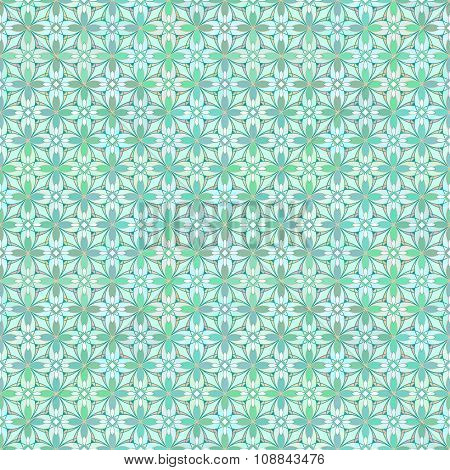 Floral Geometrical Pattern in Greenish Colors