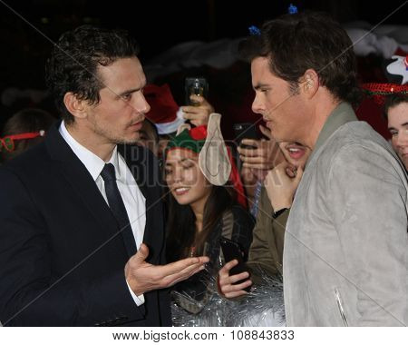 LOS ANGELES - NOV 17:  James Franco, James Marsden at the
