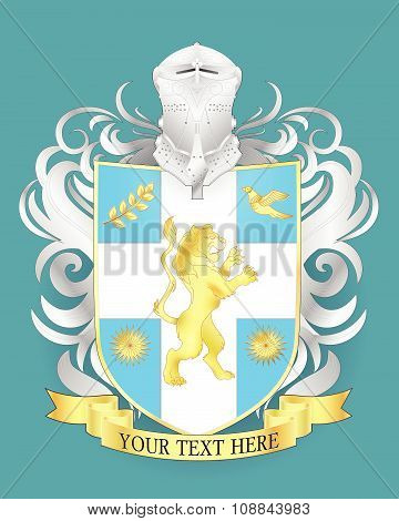 Vector heraldi coat of arms.