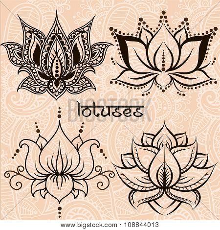 Decorative Lotuses