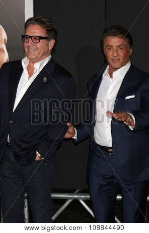 LOS ANGELES - NOV 19:  Frank Stallone, Sylvester Stallone at the