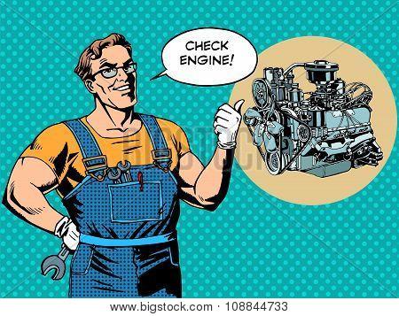 Fun mechanic check engine repair car