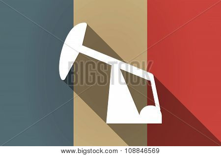 Long Shadow Flag Of France Vector Icon With A Horsehead Pump