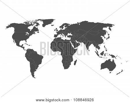 Blank Political World Map