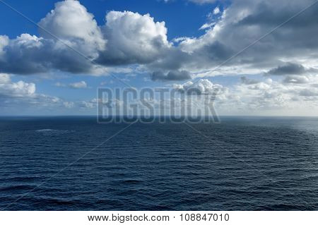 Atlantic ocean coastline by Cape of good hope