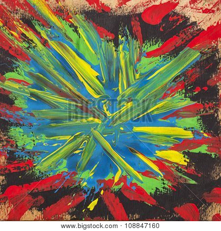 Abstract hand-painted art background.