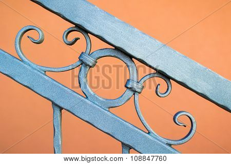 Metal Fence Ornament Abstract Pattern Element