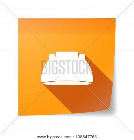 Long Shadow Vector Sticky Note Icon With A Work Helmet