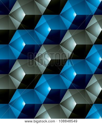 Colorful Abstract Textured Geometric Seamless Pattern. Vector Bright Textile Backdrop