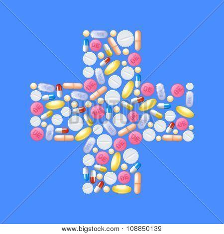 Pills In Cross Shape