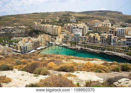 Xlendi, Malta - May, 26 - Top View