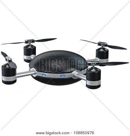 Black automatic drone