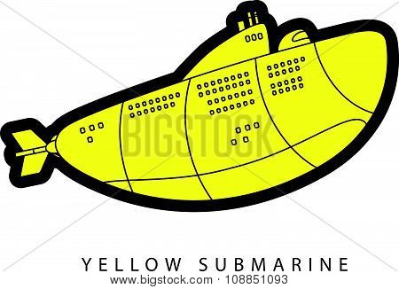 Vector illustration of yellow submarine