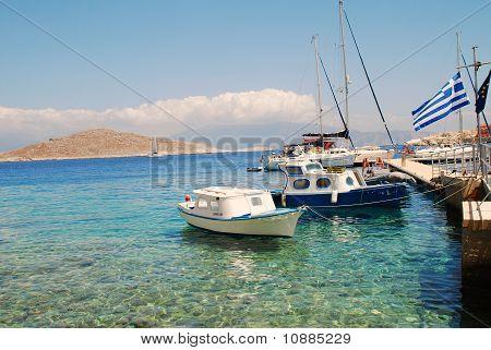 Emborio harbour, Halki island