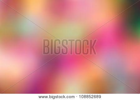 various colored chrismas lights blurred background