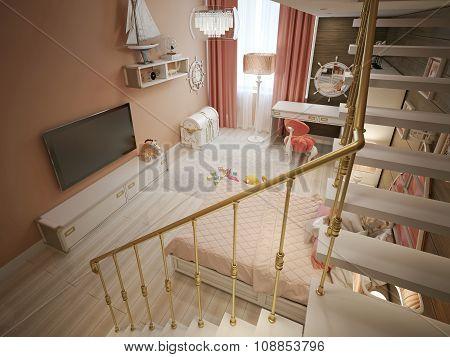 Children's Bedroom In Classic Style