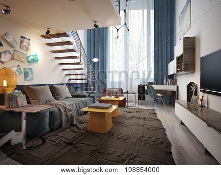 Teenage Room Loft Style