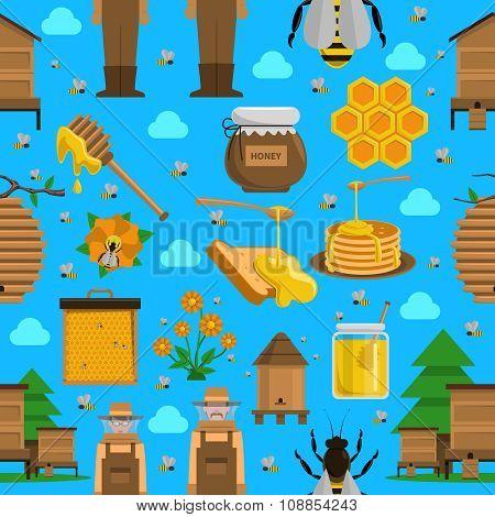 Honey Seamless Pattern