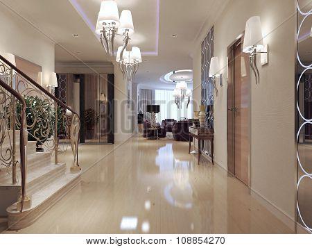 Hallway Art Deco Style