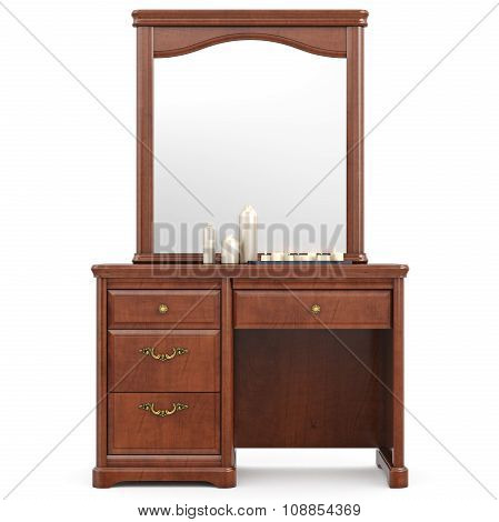 Dresser with mirror, front view