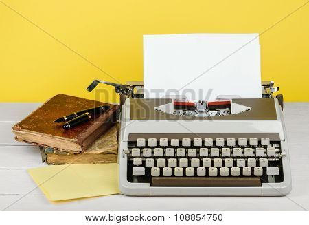 Typewriter With Sheet Of Paper
