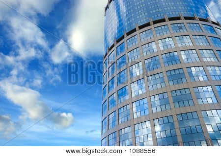 Business Center Under Sunny Sky Extreme View