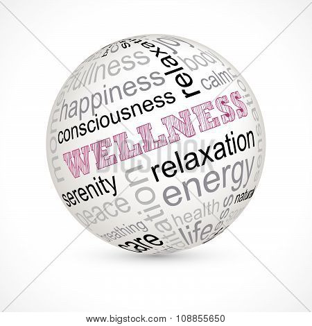 Wellness Theme Sphere With Keywords