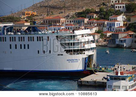 Ferry boat, Halki island