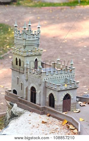 KIEV, UKRAINE - September 23, 2015: Entertaiment Park Ukraine in Miniature (Small scale Ukraine)