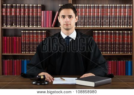 Portrait Of Confident Judge