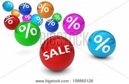 Sale Shopping Percent Reduction And Discount