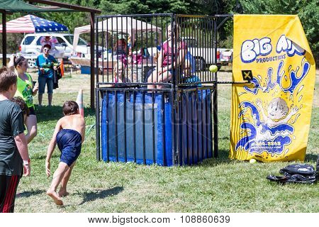 Children At The Dunk Tank