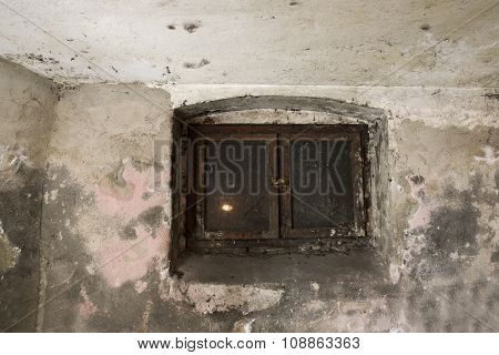 Basement window.