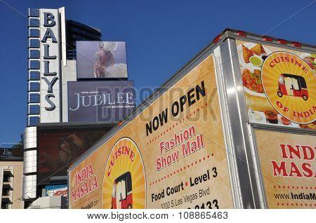 Las Vegas Strip view in Nevada