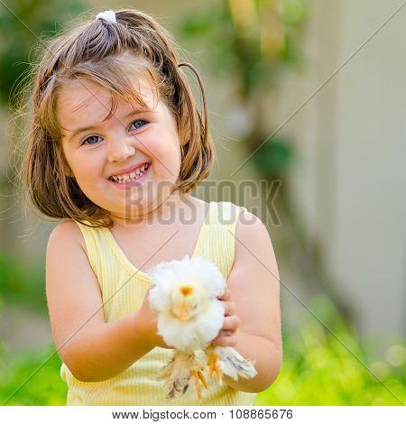girl keeps the chicks